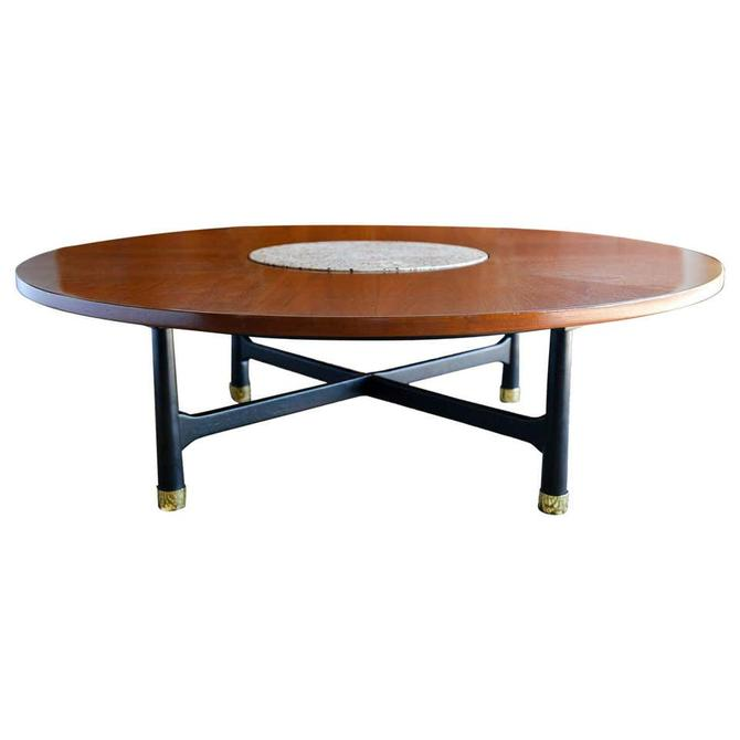 Walnut and Terrazzo Coffee Table by Harvey Probber, ca. 1960