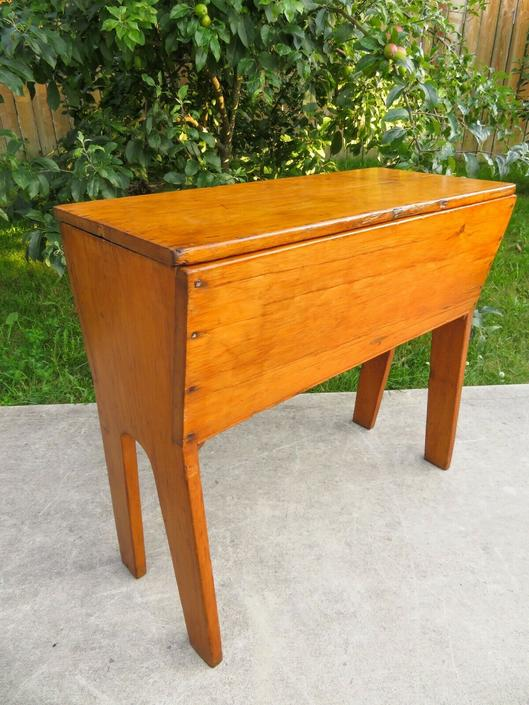 Antique HANDMADE PRIMITIVE DOUGH BOX TABLE STORAGE Planter Console BAKERY CAFE