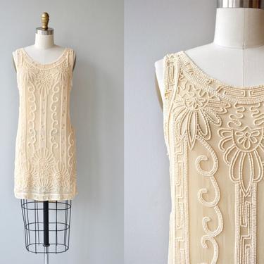 Champagne Toast dress   vintage 1920s dress   beaded silk 20s dress by DEARGOLDEN