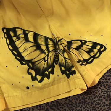 Hand painted Butterfly Shorts