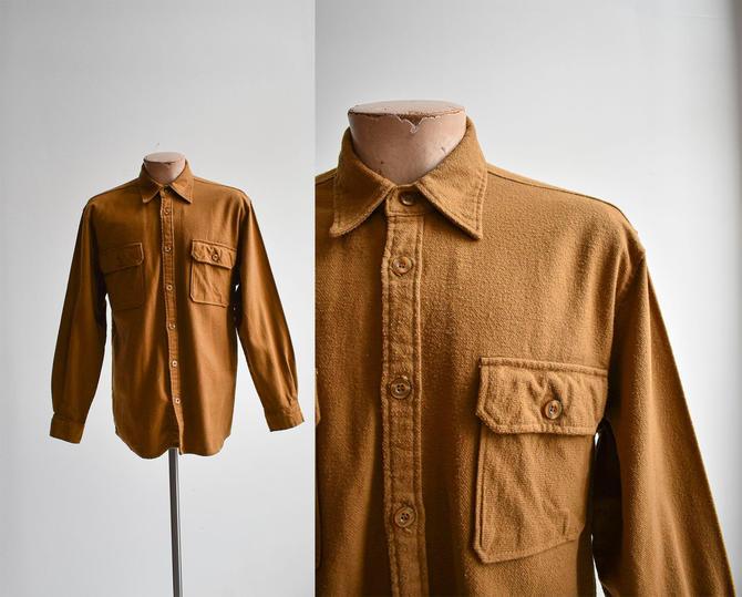 Soft Brown Vintage Flannel Shirt by milkandice