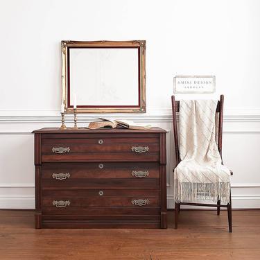 Antique Eastlake Dresser, Antique Chest of Drawers, Foyer Table by AminiDesignAshburn
