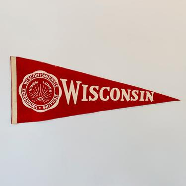 Vintage University of Wisconsin Pennant by DelveChicago