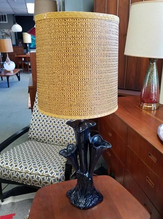 Black ceramic lamp