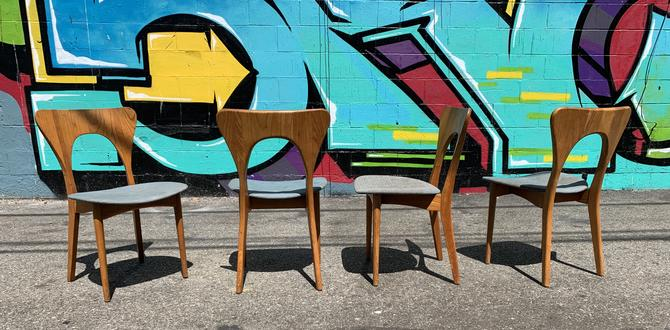 4 Mid Century Dining Chairs By Niel Koefoed