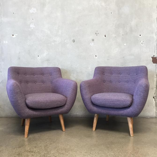 Pair of Purple Mid Century Style Chairs