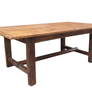 English Pine Table Reclaimed Pine Stretcher Tablewith waxed finish