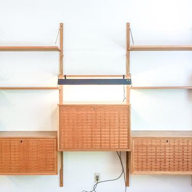Stunning Rare LARGE Authentic Danish Vintage Mid-Century Modern Solid Teak Wood Modular Wall Unit by PortlandRevibe