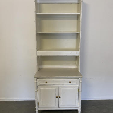 Ready for customization Henry Link Bali Hai Side Table / chest / dresser with hutch top by McKennaDesignCompany