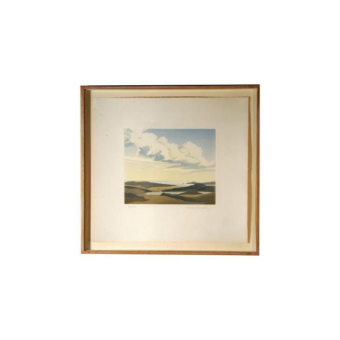 Michael Fairclough Limited Edition Colored Aquatint Landscape by MetronomeVintage