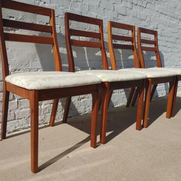 Mid Century Modern Teak English Dining Chairs by VintageVaultTulsa