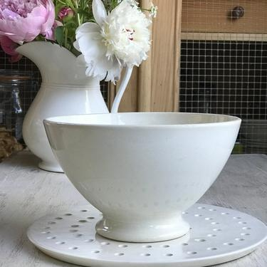 Beautiful Huge old French ironstone Cafe au lait bowl by Grainsacfrenchvintag