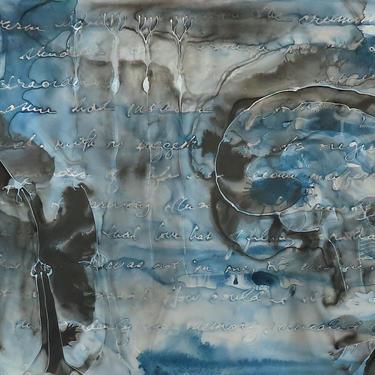 Memory of the Senses: Original ink painting on yupo - neuroscience art literature Proust by artologica