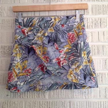 Zara Size XS Blue & Yellow Print Skirt
