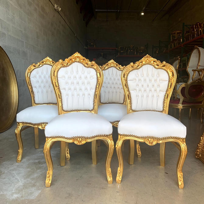 White Vintage Chair French Chair Vintage Furniture Interior Designer *4 Chairs Available Baroque Furniture Rococo Vintage Sofa French Settee by SittinPrettyByMyleen