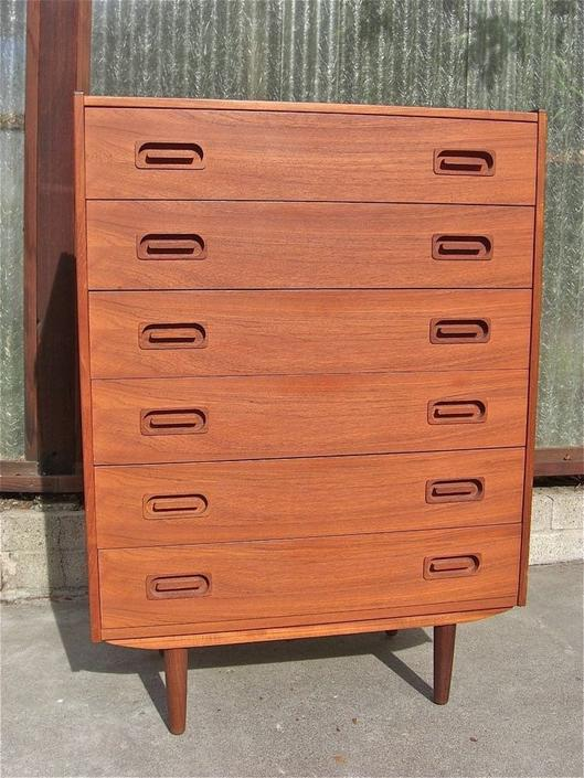 Danish Mid Century Teak Wood Dresser by BigWhaleConsignment