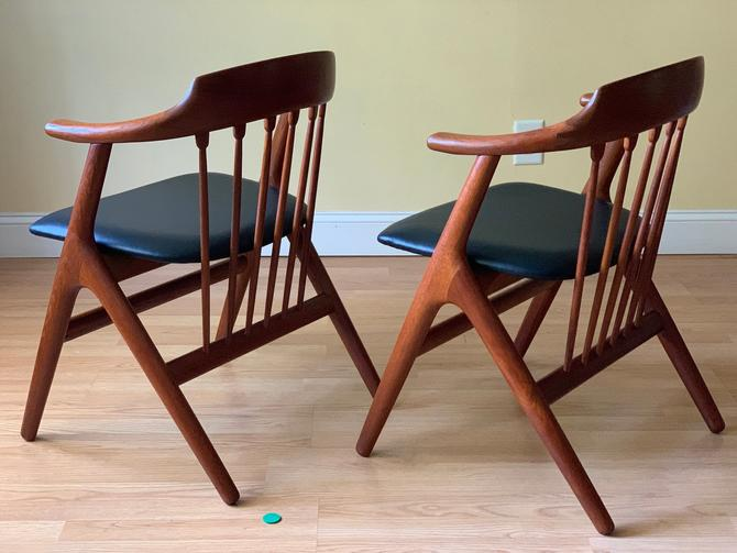 TWO rare Teak Dining Armchairs in the style of Helge Sibast, Mid Century Danish Modern by ASISisNOTgoodENOUGH