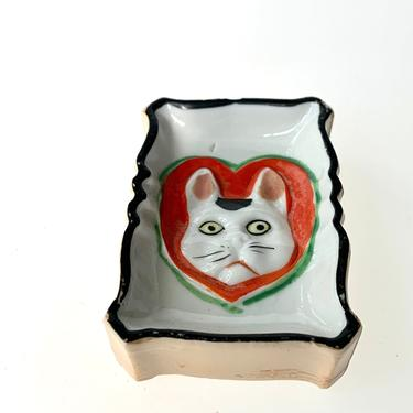 Vintage Cat Themed Trinket Dish by FunkyRelic