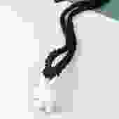 Black Braided Ceramic Knot Necklace
