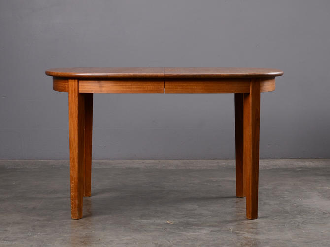 Mid Century Oval Dining Table Solid Teak Danish Modern by MadsenModern