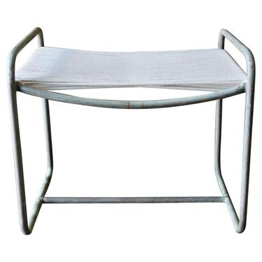 Bronze Ottoman or Side Table by Walter Lamb, circa 1955