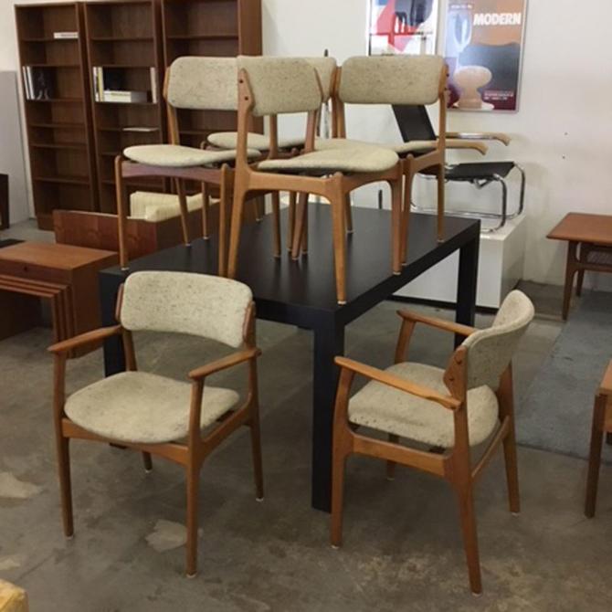 HA-C8393 Set of Six Eric Buck Teak Dining Chairs