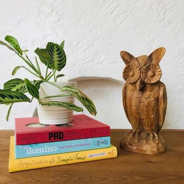 MID CENTURY Carved Wood Owl #LosAngeles by HouseCandyLA