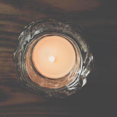 Vintage Kosta Boda Scandinavian Modernist Icy Glass Snowball Candle Holders // Small Size // Ann Warff by GlitteryMoonVintage