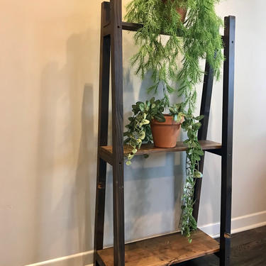 Rustic Leaning 3-Shelf Bookcase by FifteenDegree