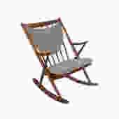 Bramin Rocking Chair Frank Reenskaug Walnut Rocker Danish Modern by HearthsideHome