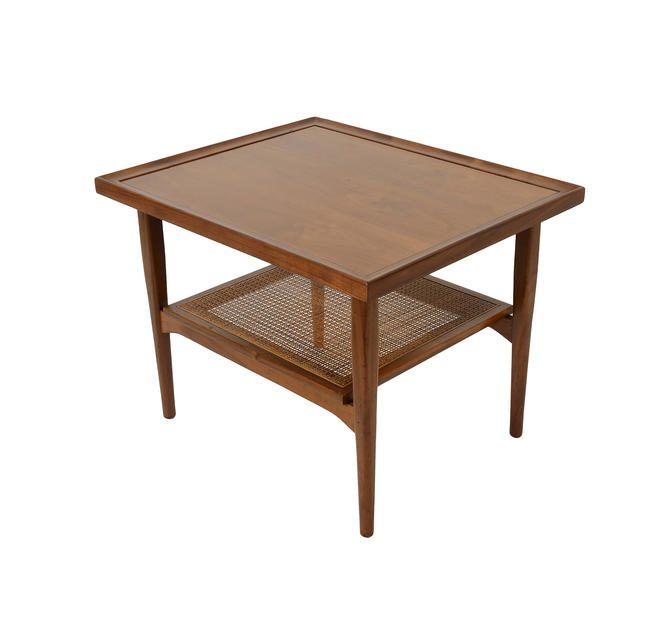 Walnut  Side Table  Drexel Declaration  Mid Century Modern 1950 by HearthsideHome