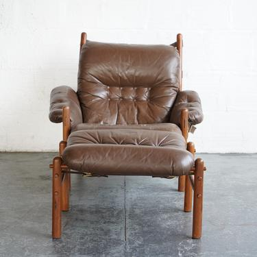"""Arne Norrell """"Inca"""" Easy Chair and Ottoman"""