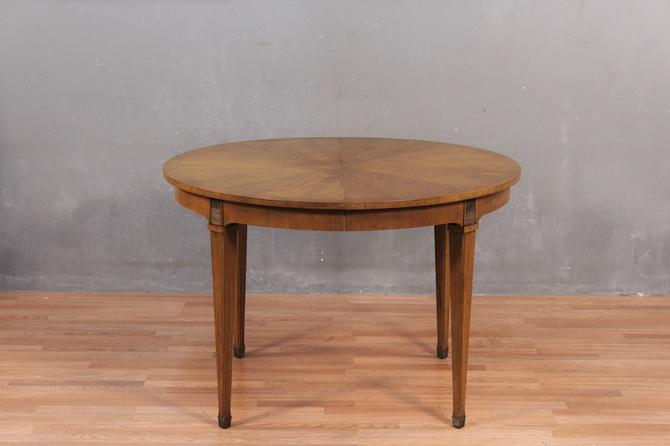 Mid Century Walnut Dining Table with 2 Leaves