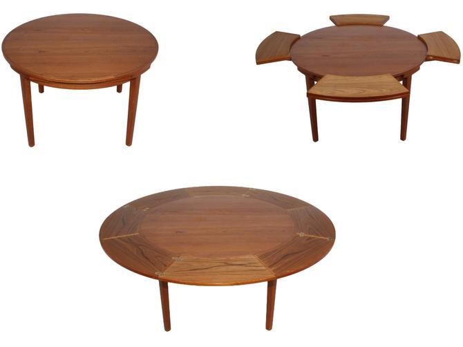 "Mid Century Danish Modern Dyrlund ""Flip-Flap"" Lotus Dining Table by RetroPassion21"