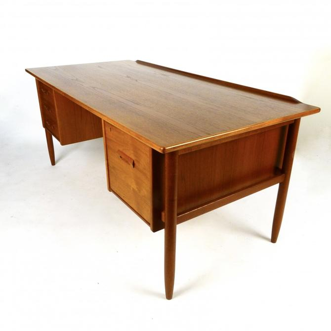 Ib Kofod Larsen Teak Desk