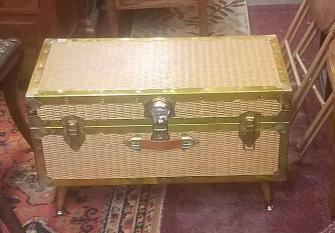 Travel Trunk Cocktail Table,
