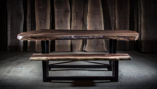 Rustic Walnut Dining Table & Bench by KirkpatrickDesigns