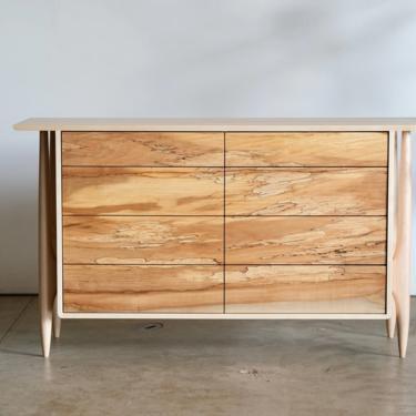 Mid Century Modern Dresser / Solid Maple Dresser / Modern Solid Wood dresser / 8 Drawer Dresser / Japandi Dresser by BeautyBreadWoodshop