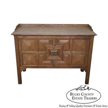Jonathan Charles Linenfold Natural Oak Tudor Style Sideboard by BucksEstateTraders