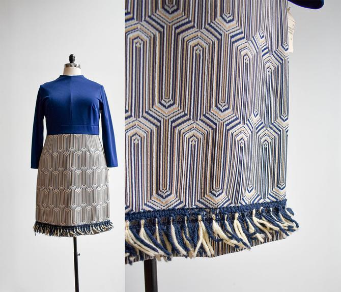 1970s Navy Blue Longsleeve Dress by milkandice
