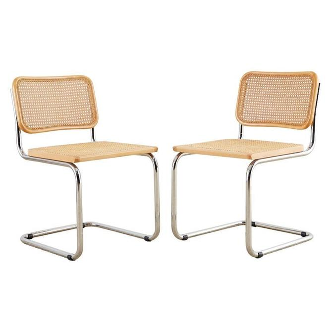 Pair of Italian Marcel Breuer for Cidue Cesca Chairs by ErinLaneEstate