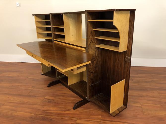 Magic Box Rosewood Fold Out Desk
