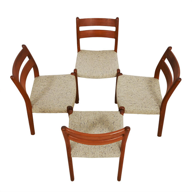 Set of 4 Danish Modern Teak Dining Chairs