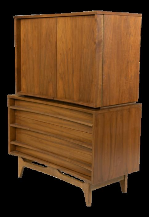 Mid-Century Young Manufacturing Concave Highboy