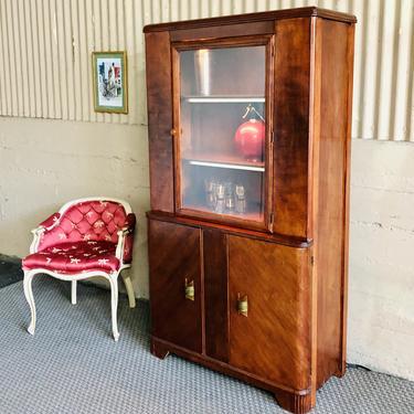 Art Deco Mahogany Bar / Liquor Cabinet