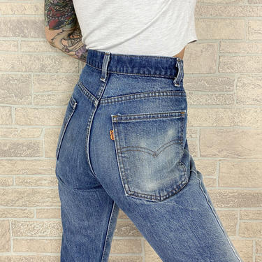 70's Levi's 517 Orange Tab Jeans / Size 29 30 by NoteworthyGarments