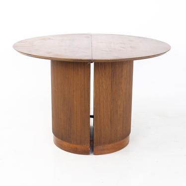 Lane First Edition Mid Century Walnut Expanding Round Pedestal Dining Table - mcm by ModernHill
