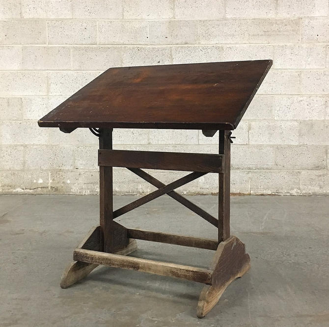LOCAL PICKUP ONLY ————— Vintage Kids Drafting Table by RetrospectVintage215