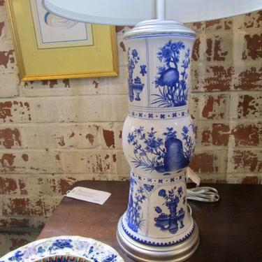 BLUE AND WHITE PORCELAIN LAMP