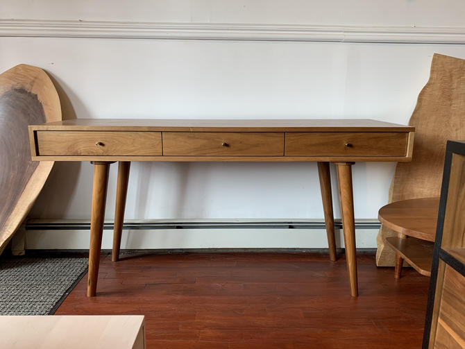 Bloom Desk / Console Table in Solid Walnut - In Stock!!! by STORnewyork